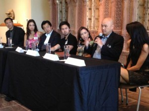 l to r, Dat Nguyen, Karin Oen, Kent Takano, Ha Mai, Lily Jang, Richard Jung and Tanya Pintoat the Groundbreakers Speak event at the Crow Collection.
